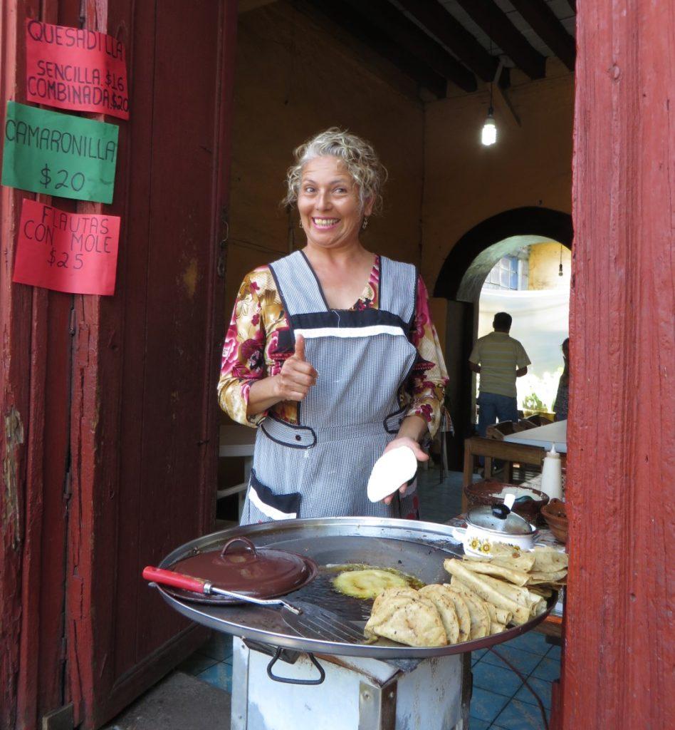 Lady in Patzcuaro near Morelia