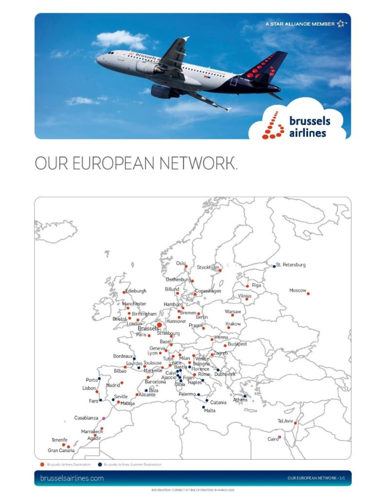 Brussels Airlines network