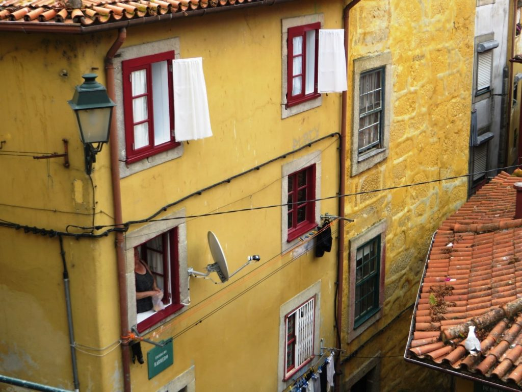 Narrow streets in Porto