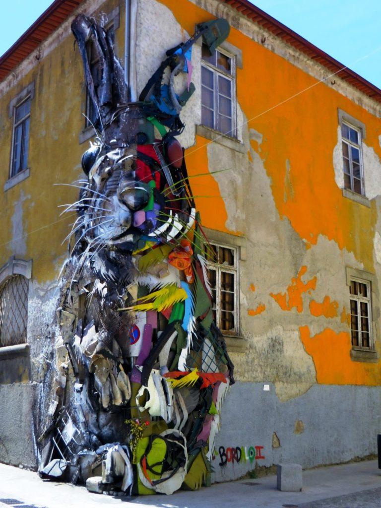 Rabbit street art Porto Bordallo II