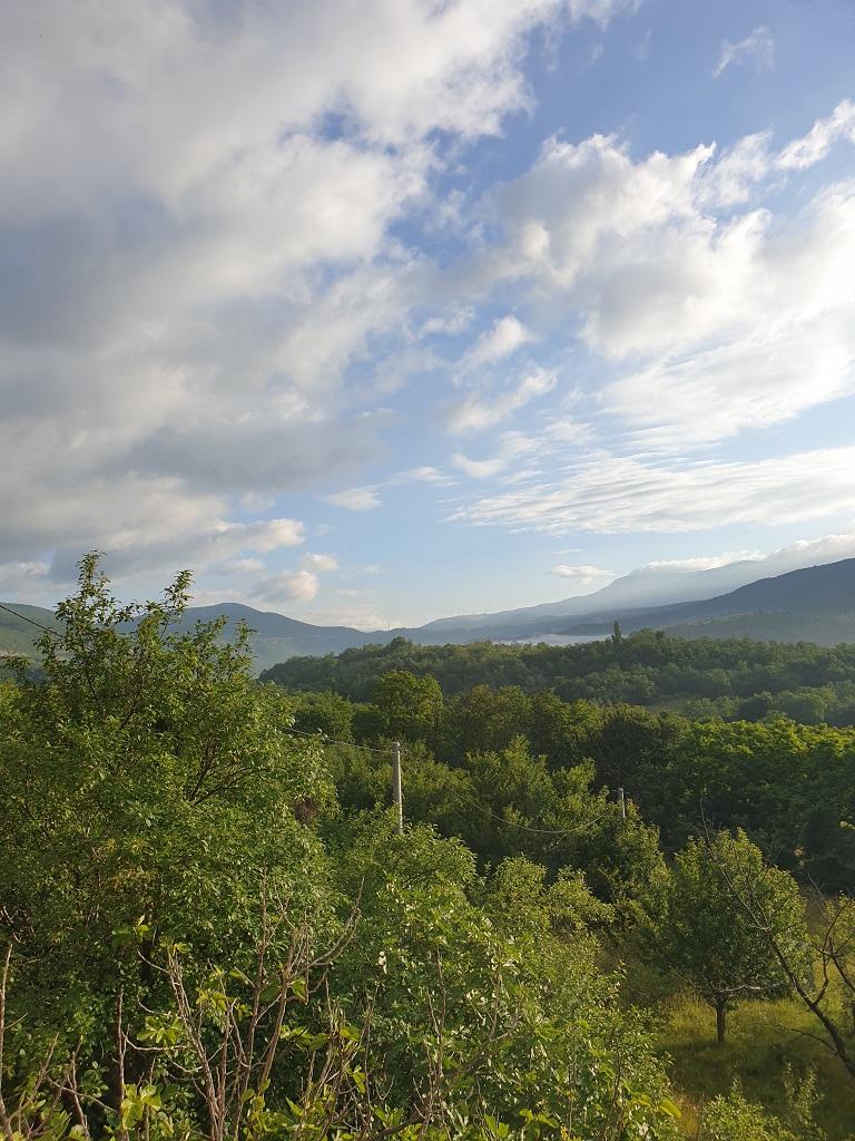 View from house in Zrmanja in Croatia
