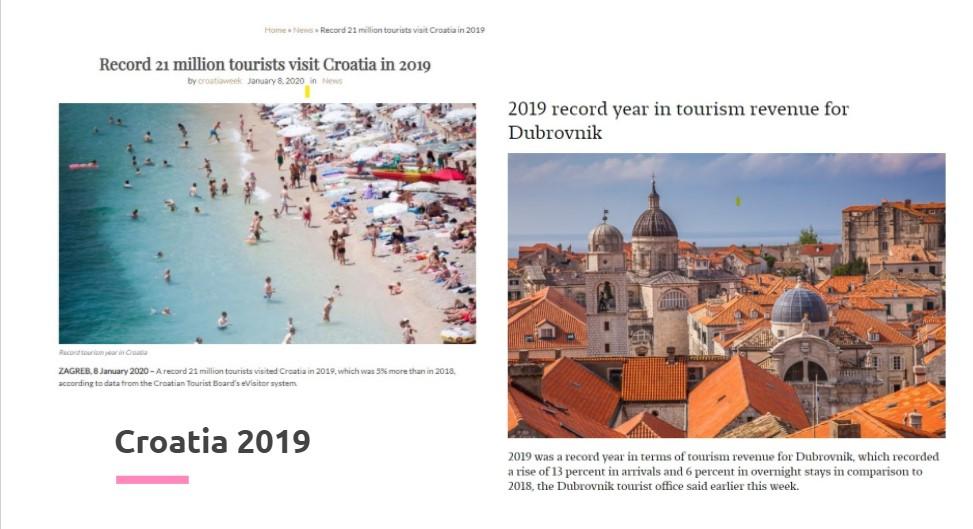 Croatia tourism 2019