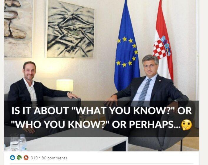 Jan de Jong and Prime Ministar Plenkovic about Digital nomads croatia