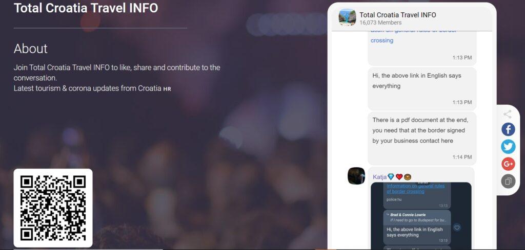 Viber Community - Total Croatia Travel Info as innovative digital tourism product